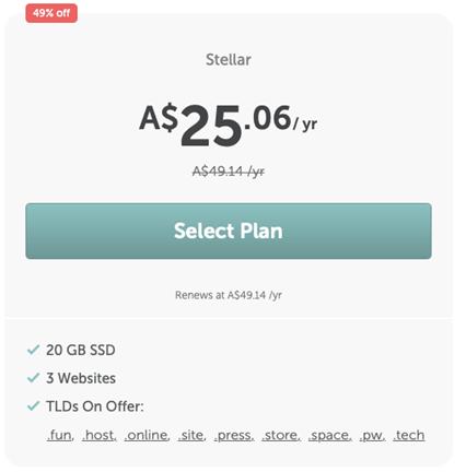 namecheap hosting plan stellar