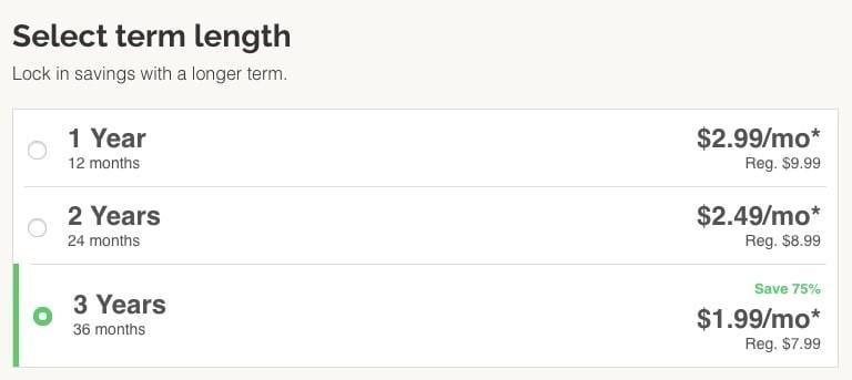 Select Term Length