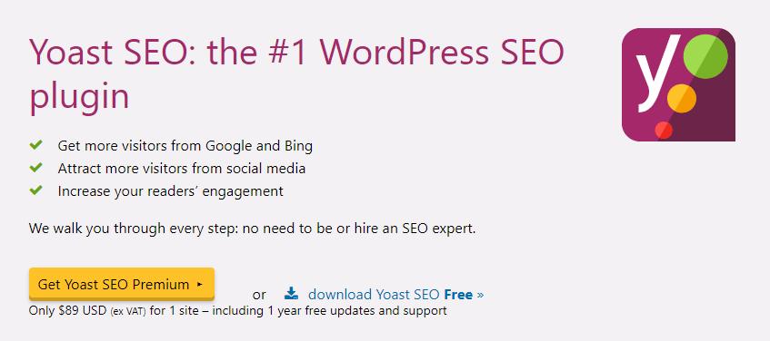 Top 5 SEO friendly WordPress plugins for online startups Yoast SEO