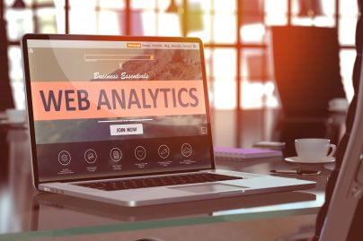 Web Analytics Concept On Laptop Screen.